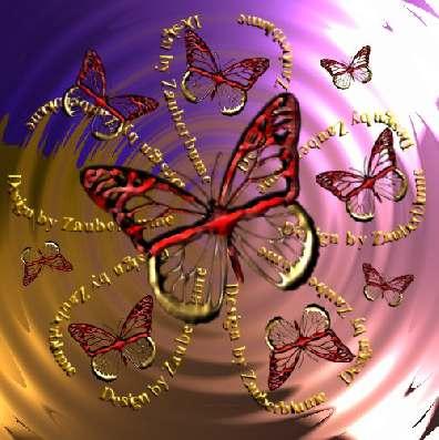 une fleur papillon